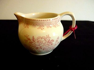 A Sweet Little Cream Jug By Burgess & Leigh - Asiatic Pheasant Design In Pink