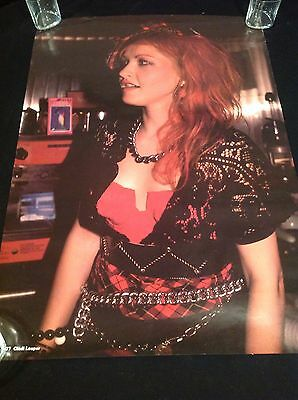 "Rock Star CYNDI LAUPER 1984 Promotional 23.5 x 33.25"" Poster From Holland"
