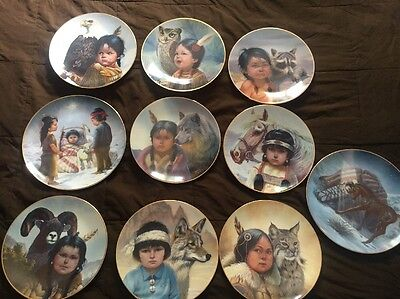 Perillo Plate Collection North American Indian Children. Individually Numbered