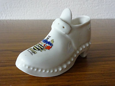 Gemma Model of a Shoe (12.5cm Long) with Blackpool Crest