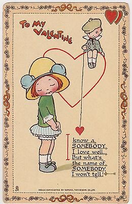 Mabel Lucie Attwell Tuck Valentine Postcard No6 Innocence Abroad
