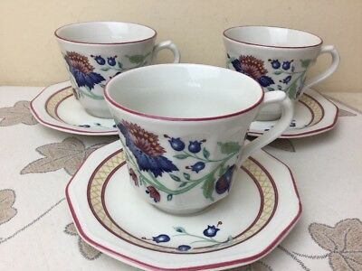 Churchill Tamarind 4 x Cups & Saucers Mint Unused Condition