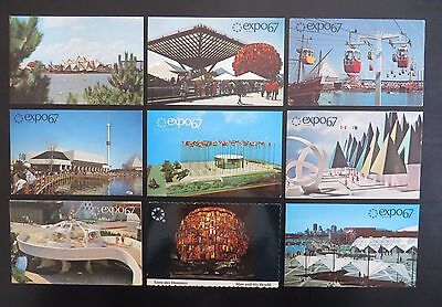expo67 9-postcard lot #106 - showing expo67 pavilions / sites (Montreal 1967)