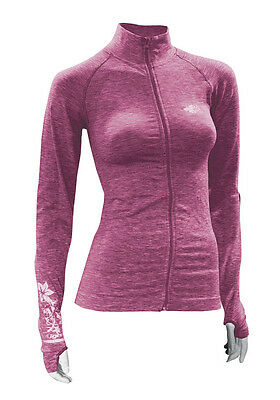 Maillot Fullzip ML Raidlight Yog'athletic Femme fuchsia
