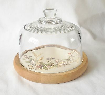 Marks and Spencer Harvest Glass Cheese Dome with Tile Board - M & S