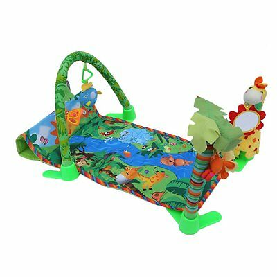 3 in 1 Rainforest Music Lullaby Baby Play Soft Mat Activity Play Gym Crawl Toy