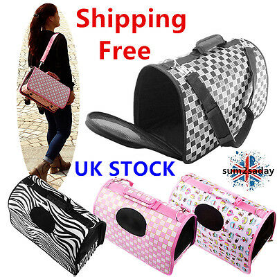 S/M/L Dog Pet Cat Puppy Portable Travel Carry Carrier Tote Cage Bag Kennel SQ