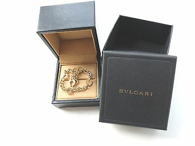 Original BULGARI Open Circle Link Armband in 750 Gelbgold + BOX
