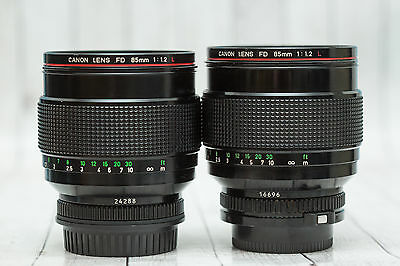 Canon Fd 85mm F 1.2 , For parts and repair 2 pieces Read