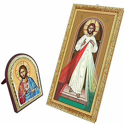 FengMicon Divine Mercy Picture of Jesus Christ Frame Catholic Gift Christian