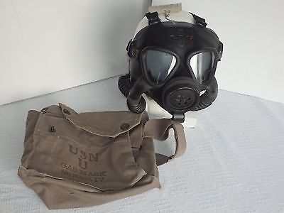 WWII US Navy Mark IV 1944 Gas Mask w/canister & Bag