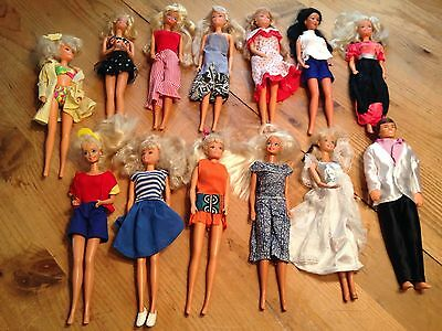 Vintage Lot Of Barbie Dolls With Accessories