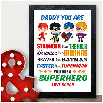 Daddy You are My Superhero Personalised Birthday Gifts for Daddy Uncle Dad Him