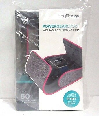 myCharge - PowerGear Sport 2000mAh for Most Fitbit Devices - Gray|pink