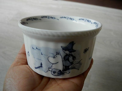 Japan Bowl Soup Moomin Valley White Blue Pottery Yamaka Home Kitchen Table Vtg.