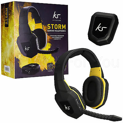 Kitsound Storm Wireless PS4 PS3 Xbox 360 Xbox One PC Gaming Headphones Headset