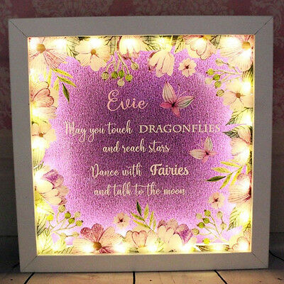 Light Up Personalised Butterfly Box Frame - May You Touch Dragonflies