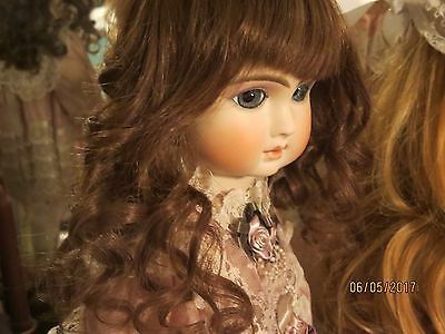 Sweet!!  100% Human Hair Doll Wig Circ 11/12  Bru Jumeau French Antique
