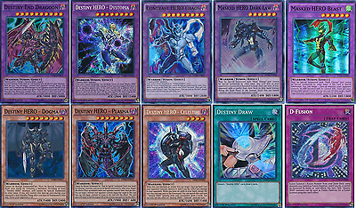 47 Cards Destiny HERO Deck| 2017 FTK* Destiny End Dragon/ Masked HERO Deck