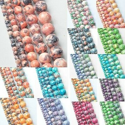 4MM ! Mixed Color 5AAA+ Rainbow Round Natural Stone Beads for Women Bracelet mak