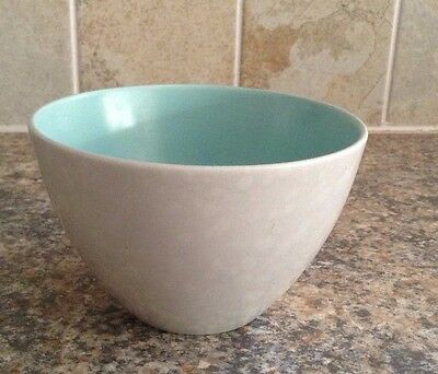Poole Twintone Ice Green And Seagull Sugar Bowl