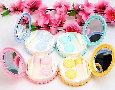 New Fashion Sesame Cookies Modeling Contact Lens Case Holder Box