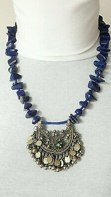 COLLIER 100% AFGHAN Lapis-lazuli