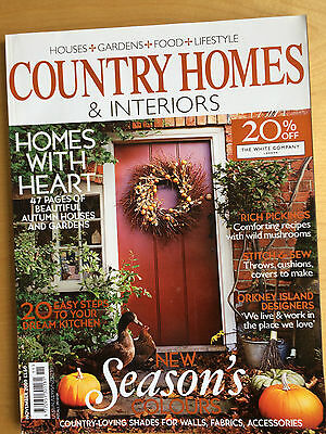 COUNTRY HOMES & INTERIORS MAGAZINE November 2009  Issue from UK
