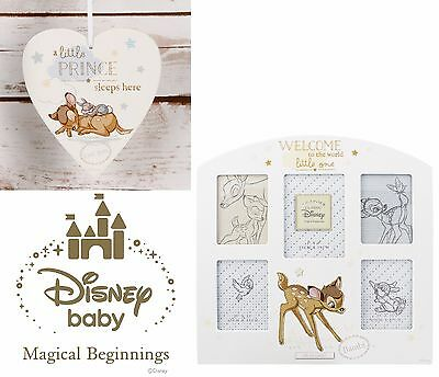 Disney Bambi Magical Beginnings Heart Plaque & Collage Frame - Fab New Baby Gift