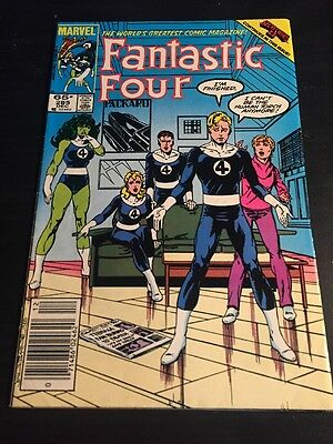 "Fantastic Four#285 Awesome Condition 8.0(1985)""Secret Wars"" Byrne Art!!"