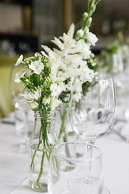 Mini Milk bottles x 10.perfect for weddings parties table decoration for flowers