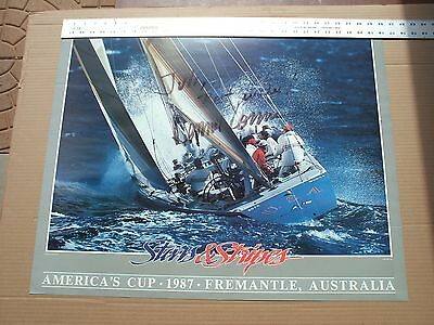 America's Cup Print, Inscribed and Signed by Dennis Conner