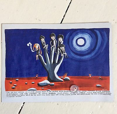 Noel Fielding-The Fab Five-Rare Postcard-2012-The Beatles🎸🎸🎸