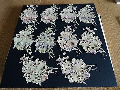 Tattered Lace Magical Midnight Handpicked Flowers - Die Cuts X 10