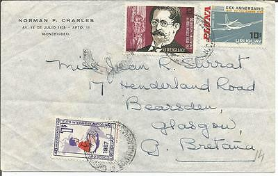 Uruguay  1967 Inter-American Children's Institute  Rodo  Pluna  Cover to Glasgow