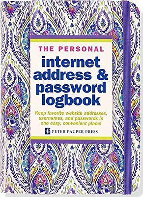 The Personal Internet Address Password Lock Book Logbook Organizer Personalized