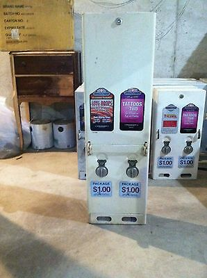 Antique tall 2 wide condom vending machine good condition