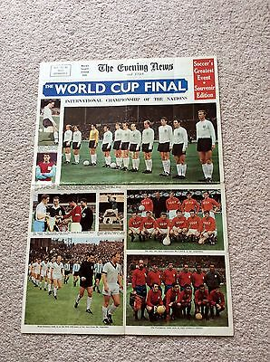 Original World Cup Final 1966 The Evening News & Star Souvenir Supplement