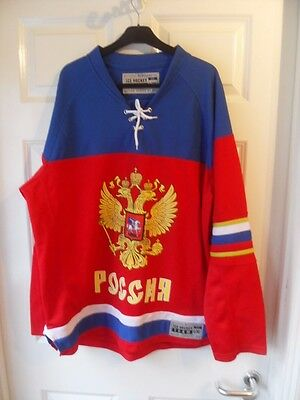 Russia Ice Hockey Team Jersey L/XL Official Merchandise Nation Series by NeH