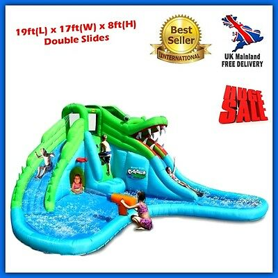 Inflatable Water Slides Pool Commercial Bouncy Castle Outdoor Child Playground