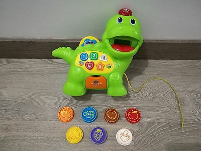 VTech Baby Feed Me Dino Musical Talking Dinosaur Educational Toy * Excellent