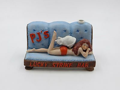 1987 Captain Dugs Nevada Brothel Ceramic Decanter #31 PJ's Lucky Strike Bar