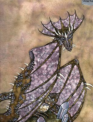 LIMITED EDITION SIGNED MOTHER Amy Brown DRAGON  wicca goth CRYSTAL  2002