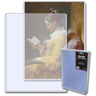 1- 9x12 BCW Toploaders Rigid Plastic Sleeve Protect Photo or Autograph