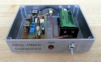 VLF Converter, 100Hz to 100kHz, ready built in Dorset UK