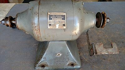 """Vintage Porter Cable Model 116 1/4 HP 3450 RPM 6"""" Bench Grinder Wire Brush USA"""