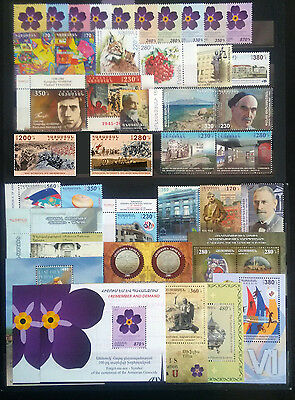 Armenia MNH** 2015 Complete year set all Stamps + S/S FULL YEAR SET Armenien