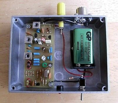 VLF Converter, 100Hz to 100kHz, PCB & hardware kit, prepared in Dorset UK