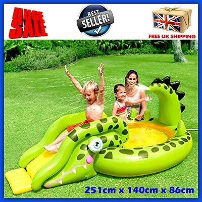 Kids Inflatable Water Slide Pool Sprayer Outdoor Garden Playground Centre Park