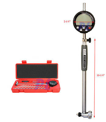 2 to 6'' DIGITAL Dial Indicator Bore Gage Set .0005 GRAD Gauge  Engine Cylinder